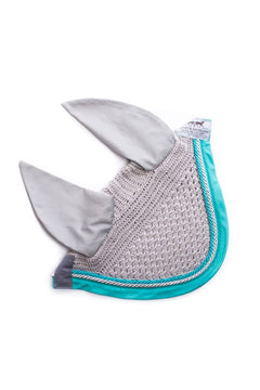 Marta Morgan Fly Ears (Grey with a Turquoise Trim)