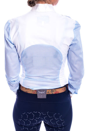 S-May Long Sleeved Competition Shirt (Blue/White Check)