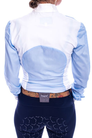 S-May Long Sleeved Competition Shirt (Blue/White)