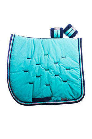 Marta Morgan Fleece Bandages (Navy Fleece with a Turquoise Trim)