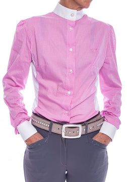S-May Long Sleeved Competition Shirt (Pink/White Check)