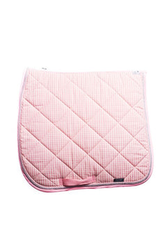 Marta Morgan Cotton Saddle Blanket (Pink/White Check Cotton with Pink Trim)