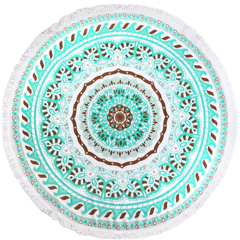 Round Luxury Beach Towels - Bermuda
