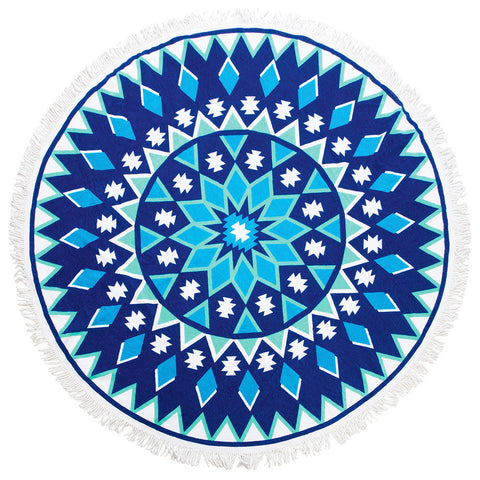Round Luxury Beach Towels - Diamond Seas