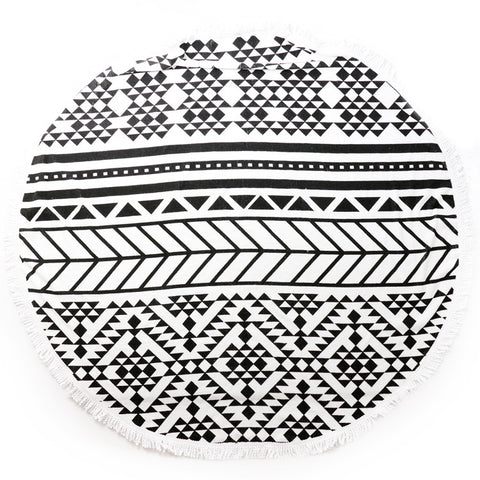 Round Luxury Beach Towels - Festival Daze