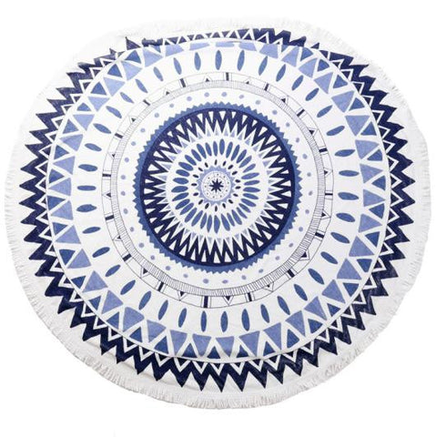 Round Luxury Beach Towels - Moon Fiesta