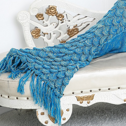 Mermaid Blanket - Bermuda Blue