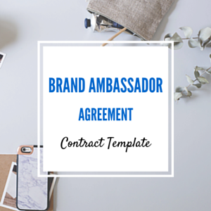 Contract Template: Brand Ambassador Agreement Template