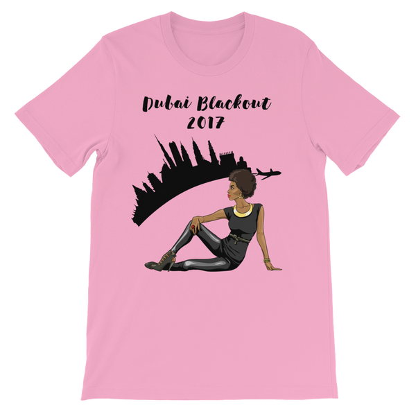 Dubai Blackout 2017 All Black Girl Shirt