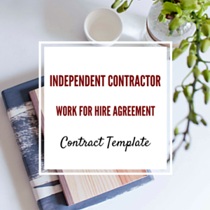 Contract Template: Independent Contractor Work for Hire Template
