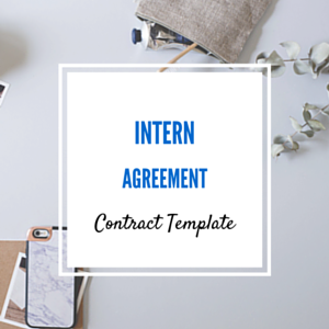Contract Template: Intern Agreement Template