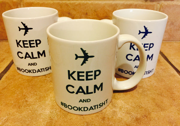 Keep Calm and #BookDatIsht Mugs