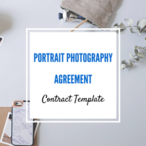 Contract Template: Portrait Session Photography Agreement Template