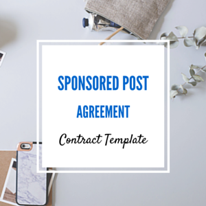 Contract Template: Sponsored Post Contract Templates (3 Forms)