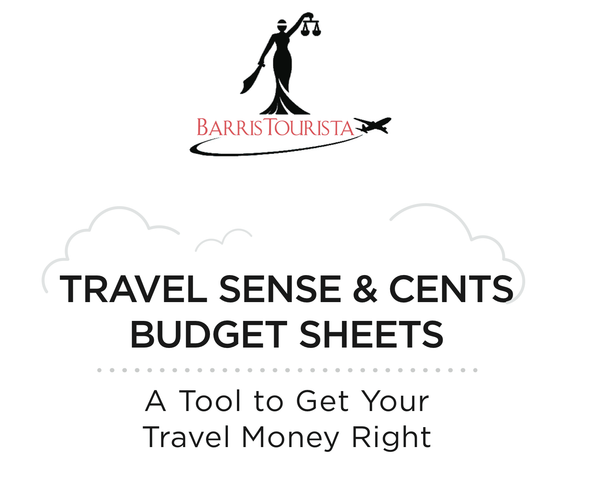 BarrisTourista Travel Sense & Cents Budget Sheets