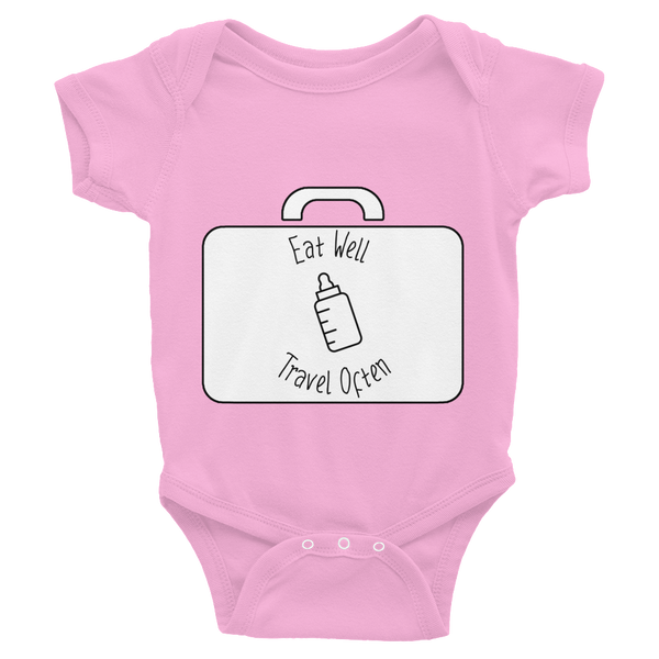 Eat Well Travel Often Baby Onesie