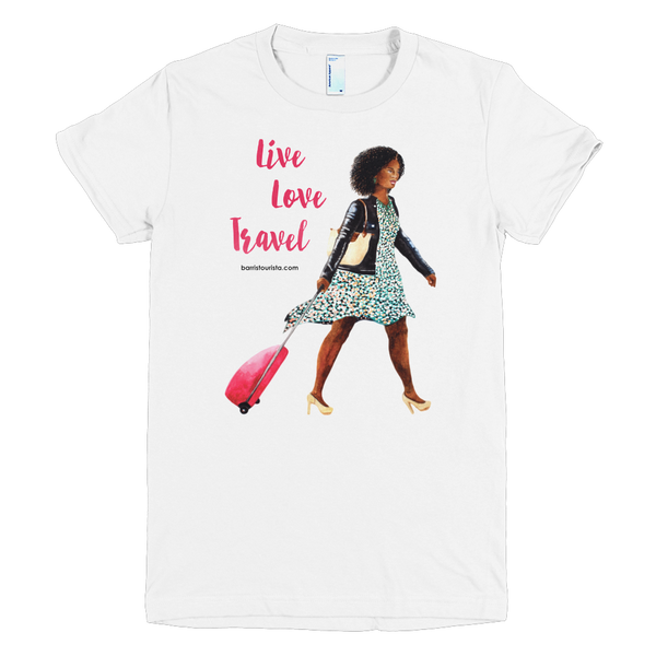 Live Love Travel Shirt (Red Text)