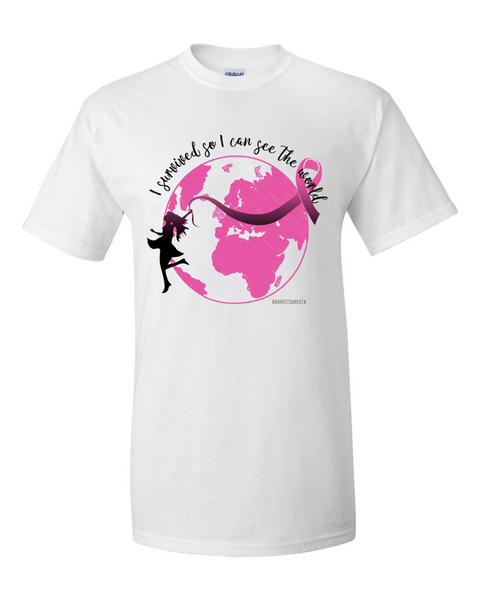 Breast Cancer Awareness Limited Edition: I Survived-Globe
