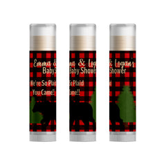 Flannel Baby Shower Favors Lip Balm (BUFFPL2)