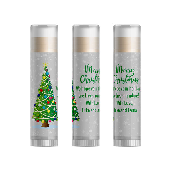 Christmas Tree ChristmasLip Balm Party Favors, Set of 15