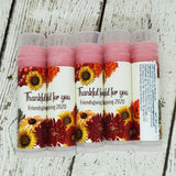 Thankful for You Thanksgiving Lip Balm, Set of 15