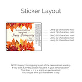 Autumn Leaves Thanksgiving Lip Balm, Set of 15