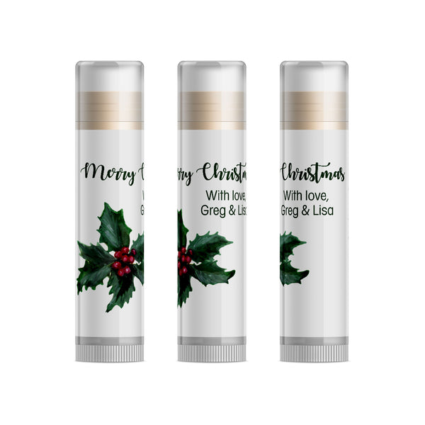Holly Berry Christmas Dinner Lip Balm, Set of 15