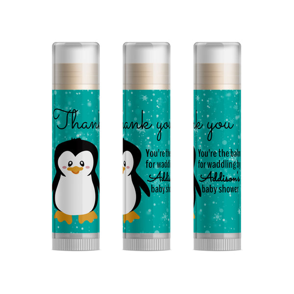 Penguin Baby Shower Favors Lip Balm, 15pc