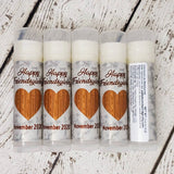Rustic Heart Thanksgiving Lip Balm, Set of 15