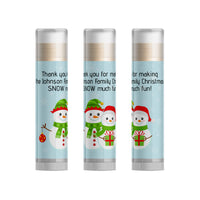 Snowman Christmas Lip Balm, Set of 15