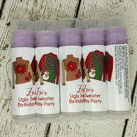 Ugly Sweater Christmas Party Lip Balm, Set of 15