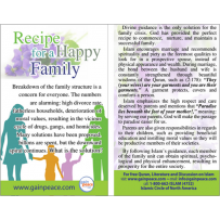 Recipe for a happy family - One Minute Card (100)