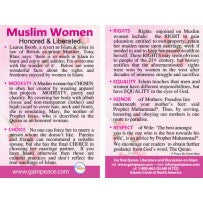 Muslim Women - One Minute Card (100)