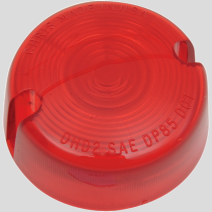 Turn signal replacement lens - Red