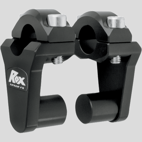 "Rox Pivoting Handlebar Risers For 7⁄8"" Bar Clamps - Black"