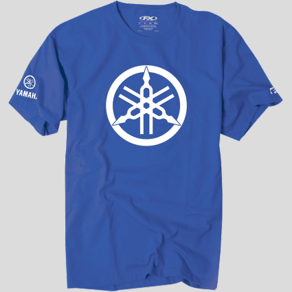 Yamaha 2D Fork T-Shirt - Royal Blue