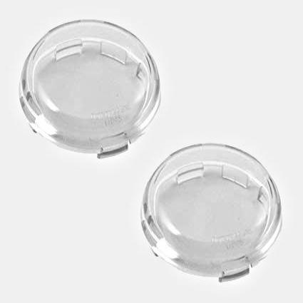 Turn signal/brake replacement lens - Bullet style (Clear)