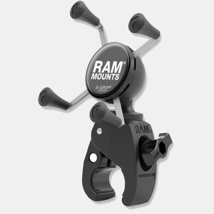 RAM Mounts - Tough-Claw Mount with Universal X-Grip Phone Cradle Kit