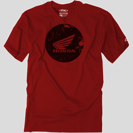 Honda Circle Cardinal T-Shirt - Red