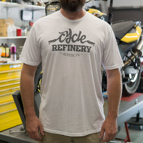 Cycle Refinery Short Sleeve T-Shirt Mens - White