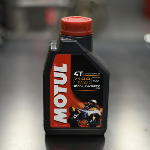 Motul 4T 7100 10W40 Synthetic Oil - 1L