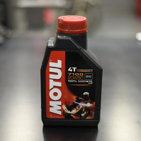 Motul 4T 7100 20W50 Synthetic Oil - 1L