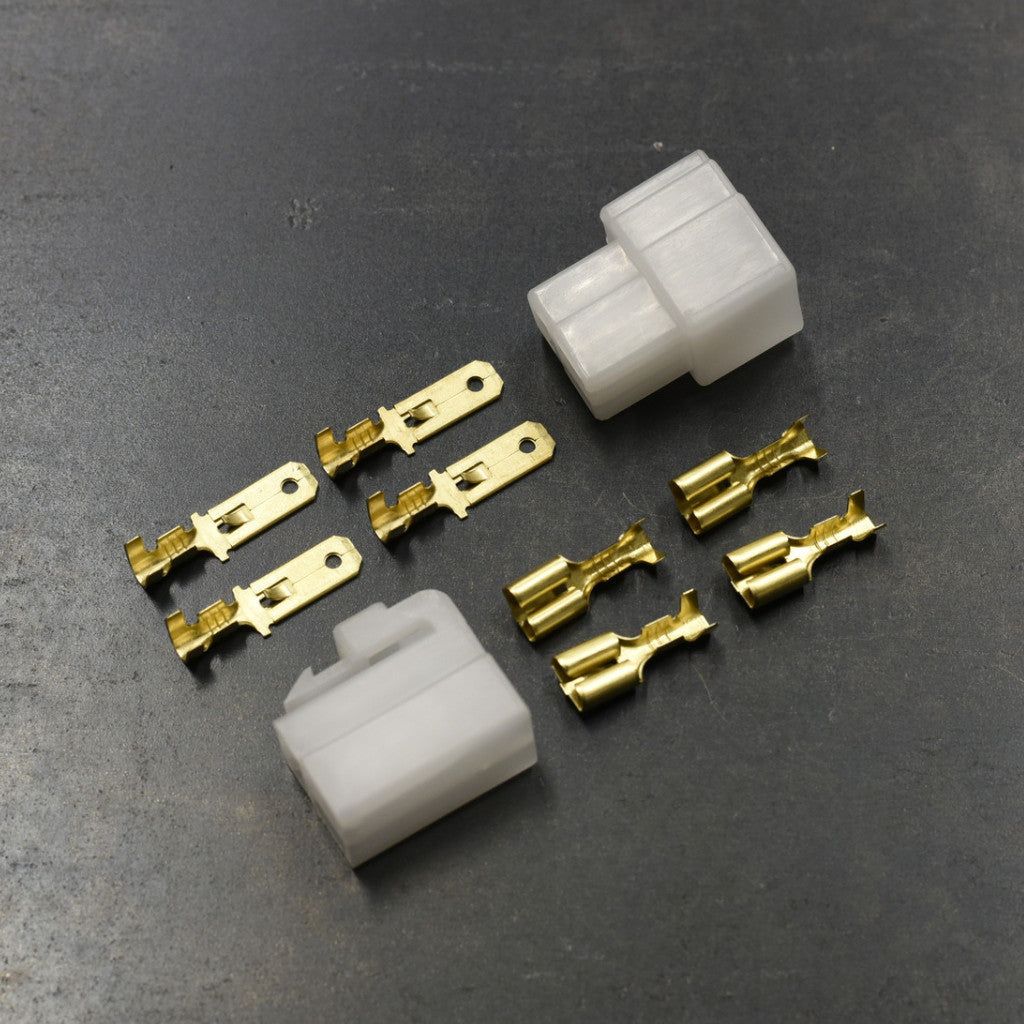 Connector Pair - 3-pin locking w/6.3mm spades