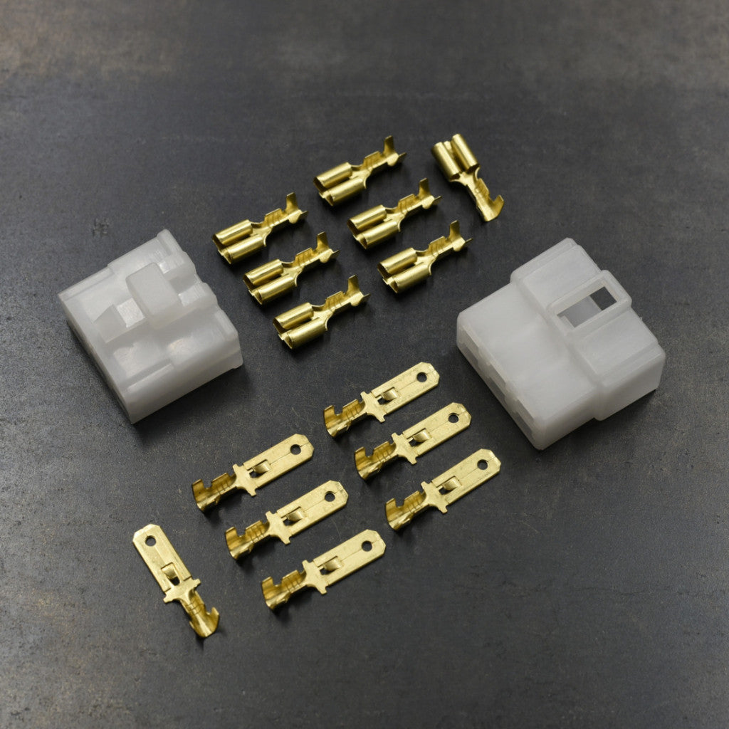 Connector Pair - 6-pin locking w/6.3mm spades