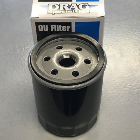 Drag Specialties Oil Filter w/Nut - Sportster, FLT, FXR, FLST, FXST