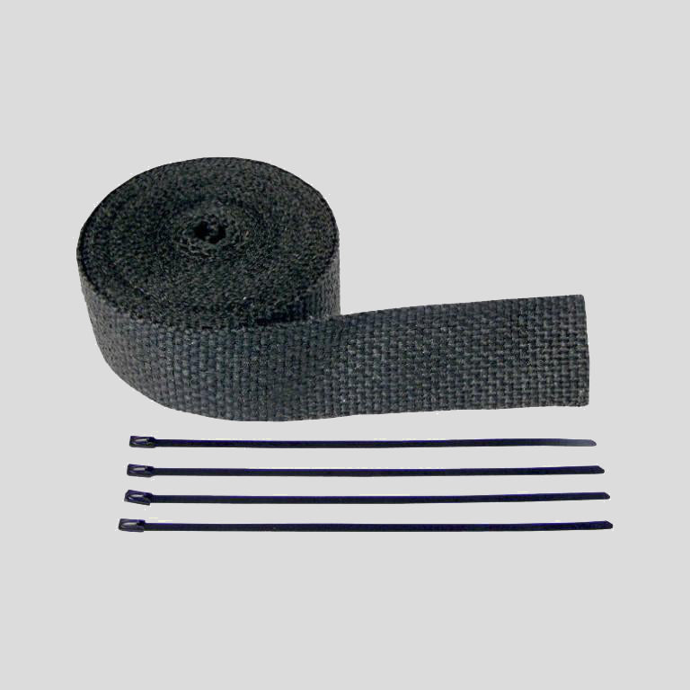 "Exhaust Wrap Kit 2""x 50' Black"