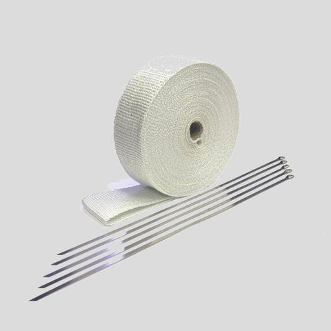 "Exhaust Wrap Kit 2""x 50' White"