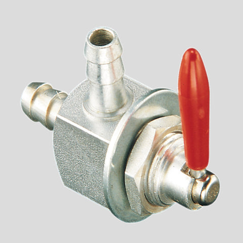 Fuel Valve 1/4in Barb x 1/4in Barb - Bulkhead Mount