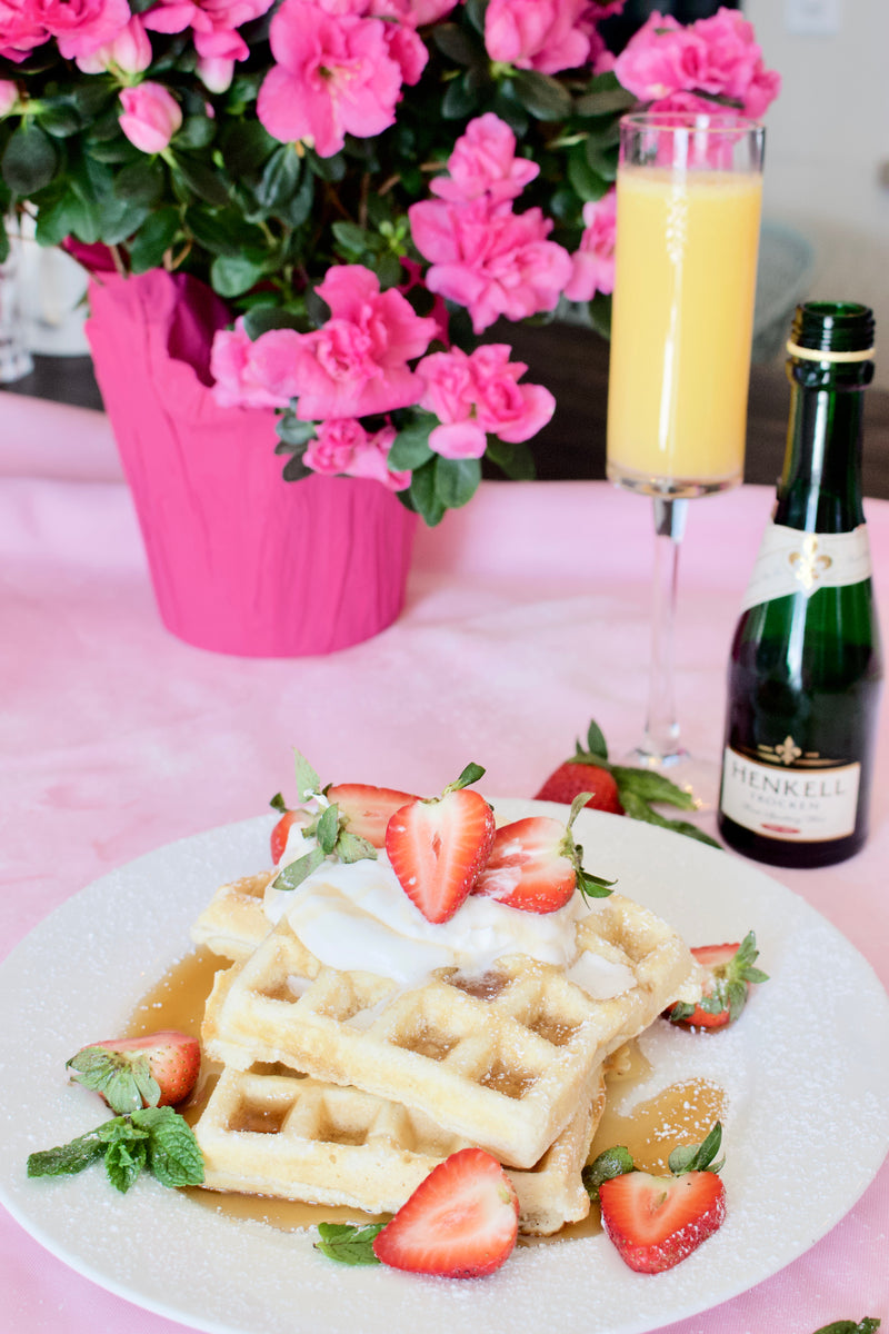 An Exquisite weekend of waffles and mimosas