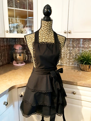 Sexy Black Lace Party Apron